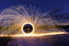 Big Creek steel wool light painting