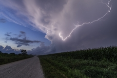 cloud lightning road Iowa Madrid