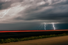 Nebraska lightning sky rural