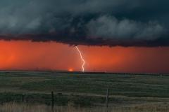 red-lightning-sunset
