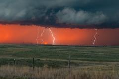 red-sky-multiple-lightning