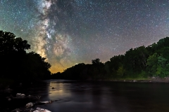 milky way Boone River Iowa