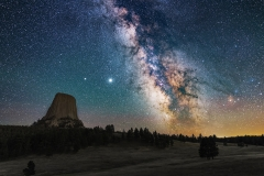 Devils Tower Wyoming Milky Way