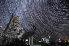 Hindu star trail