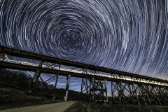 Kate Shelly bridge Train star trail