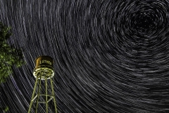 Luther star trail water tower