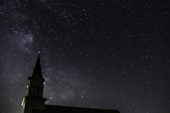 Milky Way over Church-8213