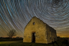 Old Stone Church star trail Iowa