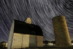 barn and stars