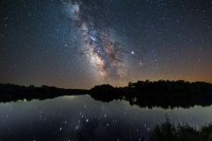 Bob White park milky way reflections lake
