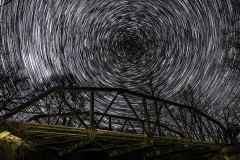 bridge and star trail