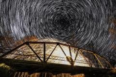 bridge stars and fire