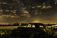car and milky way