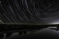 Des Moines river star trail