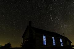 guthrie meteor over building