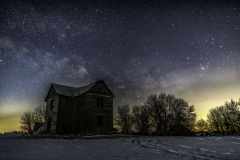 abandoned house milky way Stanhope