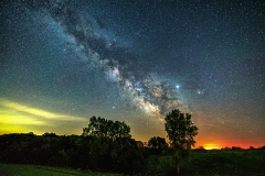milky way fire fly Iowa
