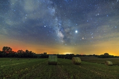 milky way hay Iowa farm