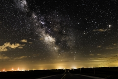 milky way over highway-