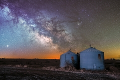 Iowa milky way farm silo