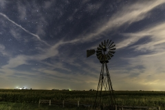 windmill Iowa night skies moonlight