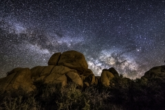 rocks and milky way