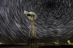 south iowa windmill star trail
