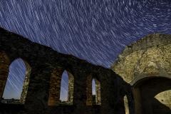 old stone church star trails