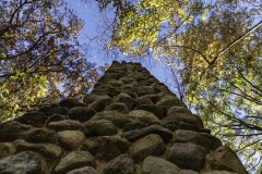 Ledges stone chimney