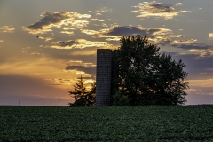 Boone County Sunset with silo
