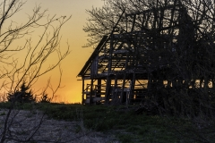 barn sunset abandoned