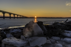 ice sunset  Saylorville Lake