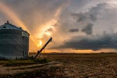 sunset silo farm Nebraska rural
