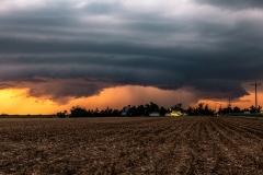 Beatrice Nebraska thunderstorm sunset