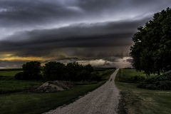 Luther Iowa shelf cloud