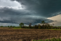 Southern Iowa Supercell thunderstorm