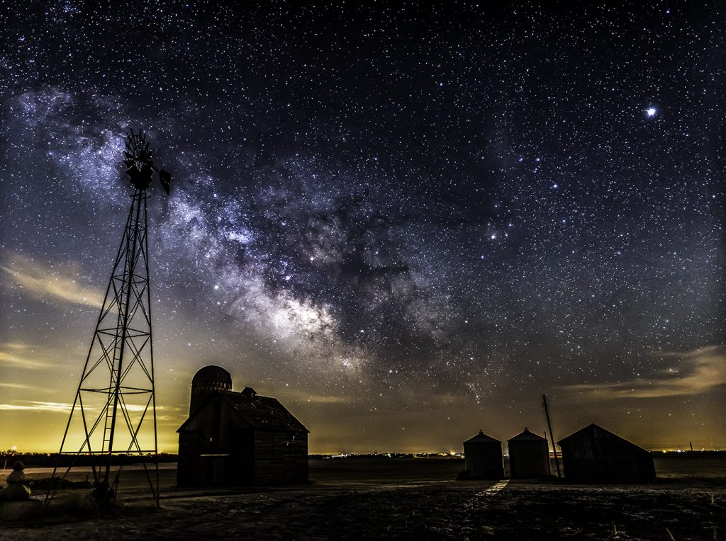 Iowa farm milky way private workshop