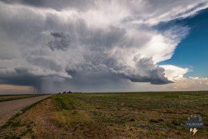 Kansas merging storm